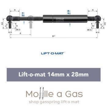 stabilus liftomat 14x28mm perno