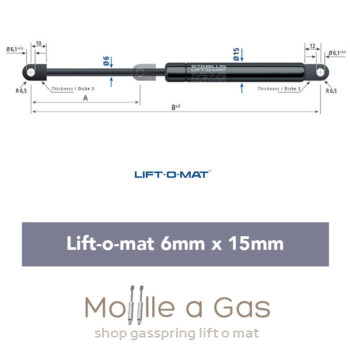 082473 Stabilus Molla a gas Lift-O-Mat 6x15 pneumatico