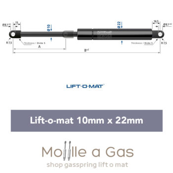 stabilus liftomat 10x22mm
