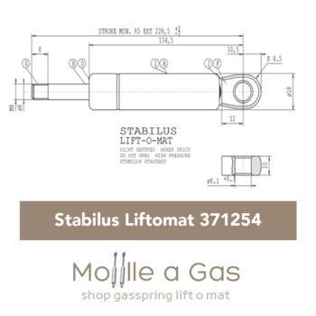 371254 0250N Stabilus Lift-o-mat