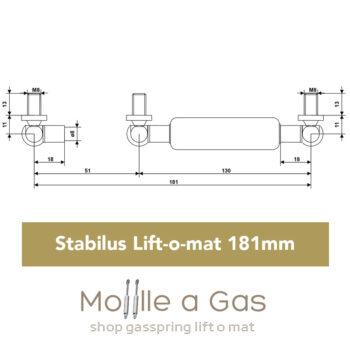 stabilus 181mm liftomat